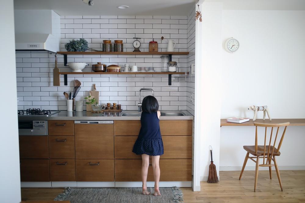 お手伝いが楽しくなるキッチン。